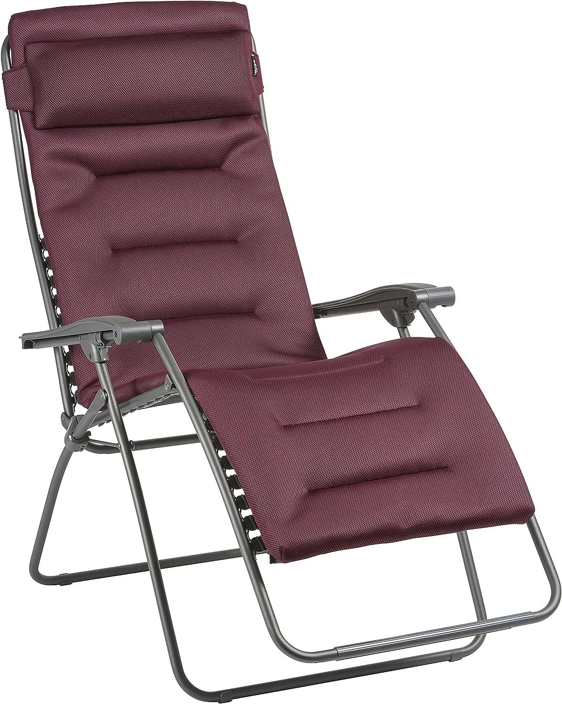 Lafuma Groer Relax-Liegestuhl, Klappbar und verstellbar, RSX Clip XL, Air Comfort, Bordeaux, LFM2041-8720