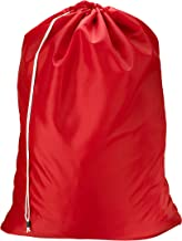 """Nylon Laundry Bag - Red, 30"""" x 40"""" - Sturdy rip and Tear Resistant Nylon Material with Drawstring Closure. Ideal Machine W..."""