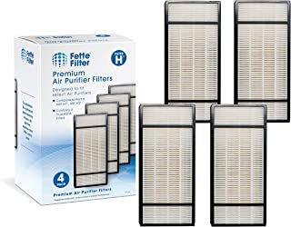 Fette Filter Pack of 4 Replacement Air Purifiers | Compatible with Honeywell True HEPA Filter H, HRF-H1 HRF-H2 | Removes at Least 99.97% of Dust, Microbes, Pet Danger, and Allergens