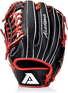 Akadema Torino Series Baseball Infielders Gloves, Black/Red, Right Hand