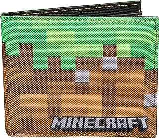 Minecraft Dirt Block Nylon Bi-Fold Wallet, Multi-Colored, One Size
