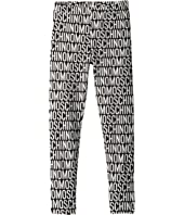 Moschino Kids - All Over Logo Print Leggings (Little Kids/Big Kids)