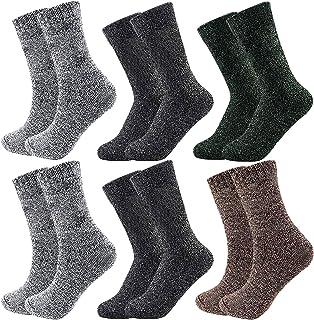 Calcetines gruesos para hombre de invierno, cálidos, de algodón, para invierno, para botas deportivas, senderismo, 6 pares