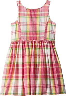 Polo Ralph Lauren Kids Madras Cotton Sleeveless Dress (Toddler)