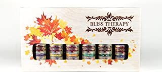 Bliss Therapy Essential Oils Set, 6 Bottles, 100% Therapeutic Aromatherapy, Calmness & Relaxation, Top Quality, 10ml (Lavender, Tea Tree, Eucalyptus, Lemongrass, Orange & Peppermint)