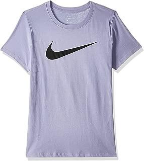 Nike Women's NSW Tee Swoosh,(Purple Dawn/Black506), Medium