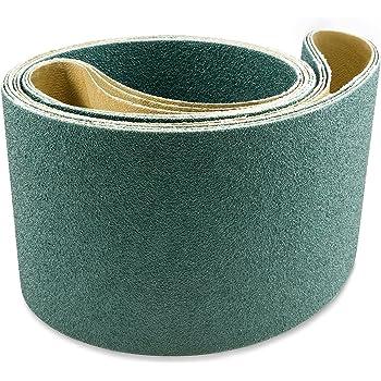 2 x 72 Inch High Quality AZ-Zirc Sanding Belt 80 Grit 8pcs