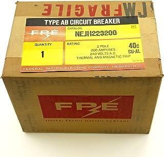 NEJH223200 FPE FEDERAL PACIFIC MAIN CIRCUIT BREAKER 2P 200A
