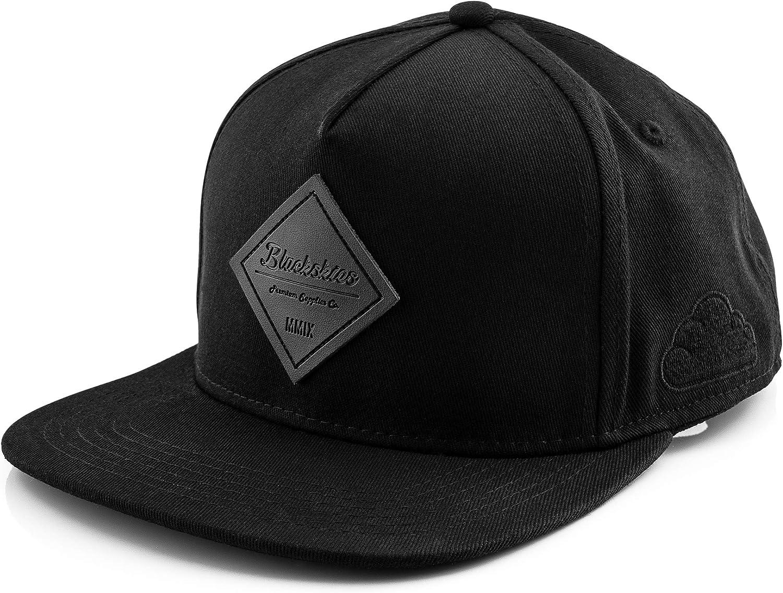 Blackskies Port Snapback Hat | Men Women Premium Baseball Cap Dad 5-Panel Strapback Hip Hop Urban Acrylic Suede