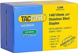 Tacwise 0477 Grapas de acero inoxidable de tipo 140/10 mm 10 mm Set de 5000 Piezas