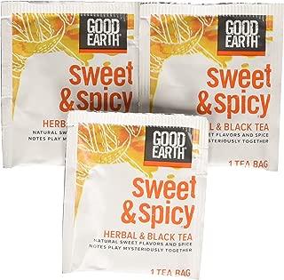 Good Earth Sweet & Spicy Herbal & Black Tea, 18 Tea bags, 1.43 Ounce (Pack of 6)