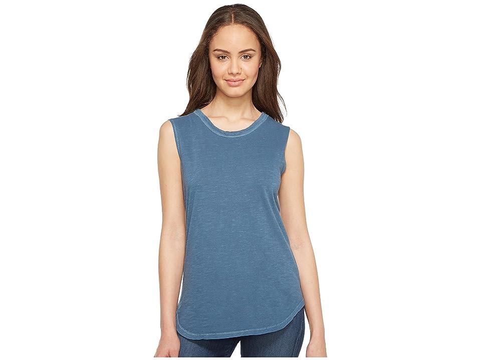Alternative Inside Out Slub Sleeveless T-Shirt (Mineral Blue Pigment) Women