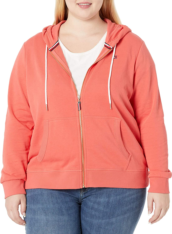 Tommy Hilfiger Women's French Terry Zip Hoodie Sweatshirt (Standard and Plus)