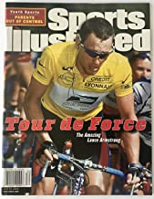 Lance Armstrong Sports Illustrated si magazine tour de france no label 7/24/2000