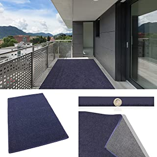 Cadet Blue Indoor/Outdoor Carpet Patio & Pool Area Rugs Runners and Doormats - Easy Maintenance - Just Hose Off & Dry! (12' x 14')