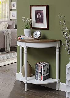 Convenience Concepts Entryway Table, Driftwood Top/White Frame
