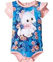 Rock Your Baby - Retro Kitten Short Sleeve Bodysuit (Infant)