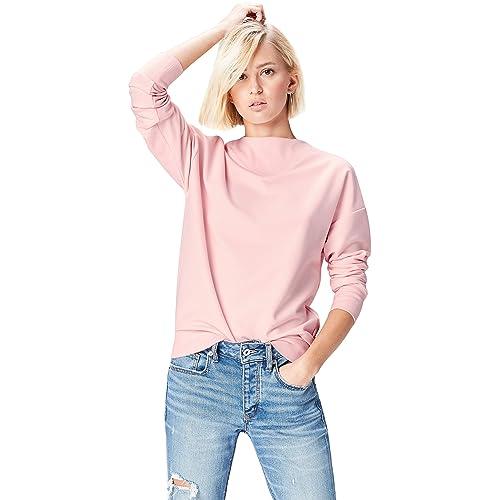 0983b992e1 FIND Sweatshirt Damen Baumwoll-Jersey mit Feinripp