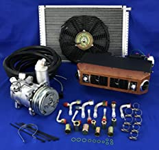 A/C KIT Universal Under Dash Evaporator Compressor KIT AIR Conditioner 432-W 12V W/Electrical Harness