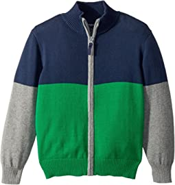 Toobydoo - Going Green Color Block Zip Sweater (Infant/Toddler/Little Kids/Big Kids)