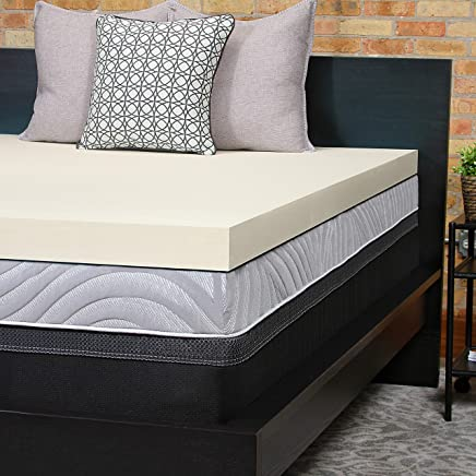 Sealy Perfect Chill 3-Inch Memory Foam Cooling Mattress Topper Washable Cover,  5 YR Warranty,  Full
