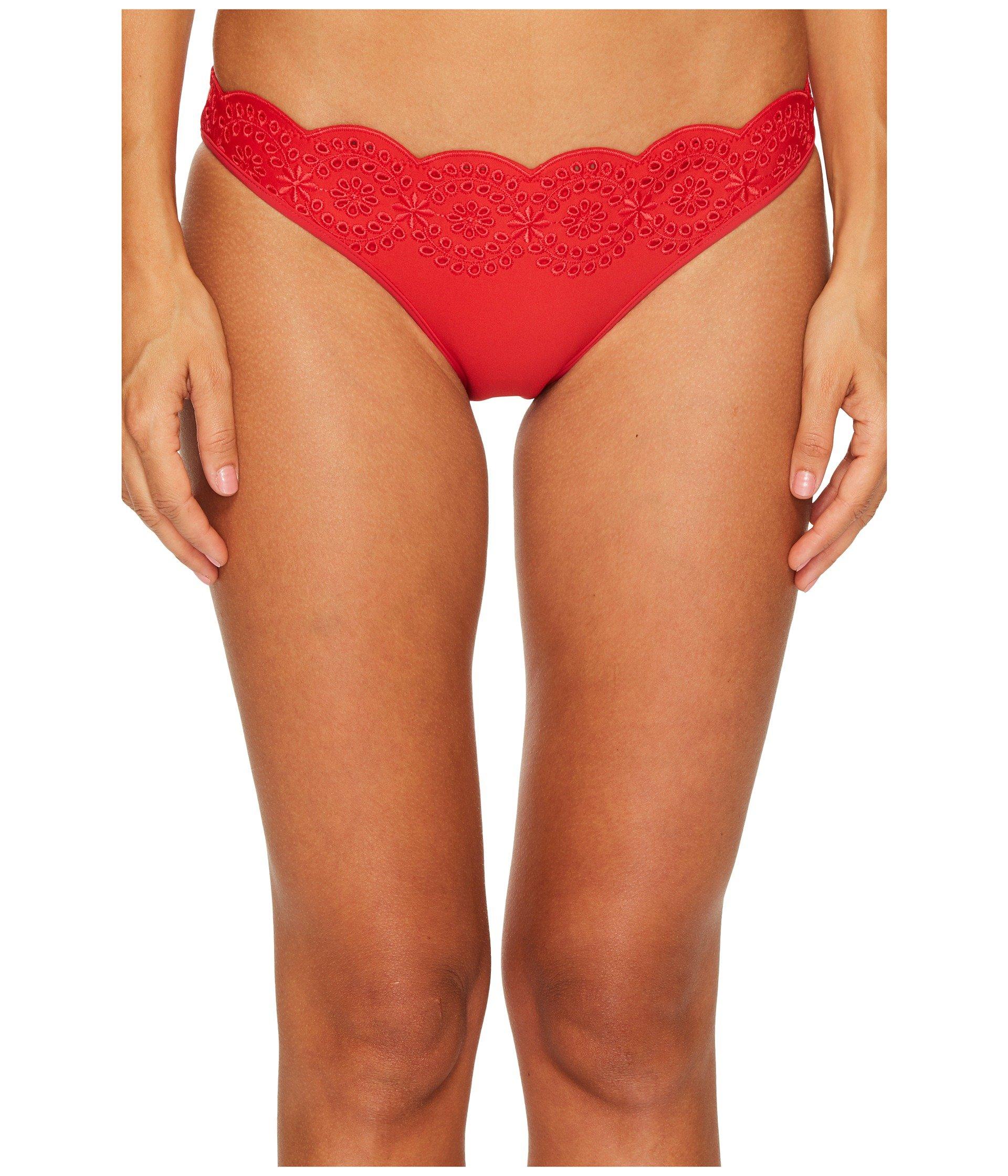 Broderie Anglaise Classic Bikini Bottom - Tango red Stella McCartney Best Wholesale lFIW92J