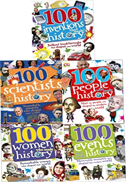 100 History Series 5 Books Collection Set (100 People Who Made History, 100 Events That Made History, 100 Inventions That Made History, 100 Scientists That Made History, 100 Women That Made History)