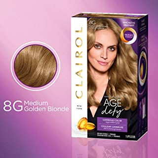 Clairol Age Defy Expert Collection, 8G Medium Golden Blonde, Permanent Hair Color, 1 Kit (PACKAGING MAY VARY)
