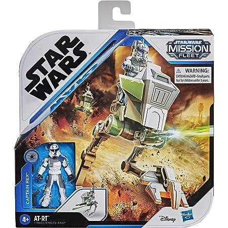 Star Wars Mission Fleet Expedition Class Capitán Rex Clone Combat Figura y vehículo de 6 cm, Juguetes para niños de 4 años en adelante