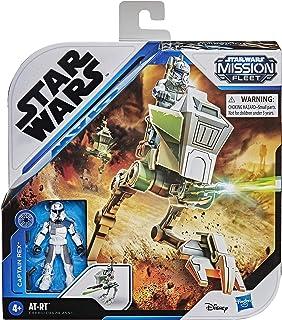 Star Wars Mission Fleet Expedition Class Captain Rex Clone Combat figur och fordon i 6 cm, leksaker för barn från 4 år
