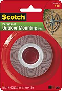Heavy-Duty Exterior Mounting Tape, Holds 5 lb., 1