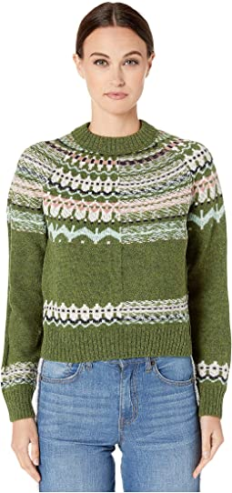 Long Sleeve Fair Isle Sweater