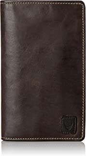 HIDESIGN Men Camel Stitch Rfid Travel Wallet