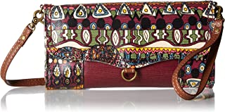 Sakroots Artist Circle Thea Phone Wallet Crossbody (Mulberry One World)