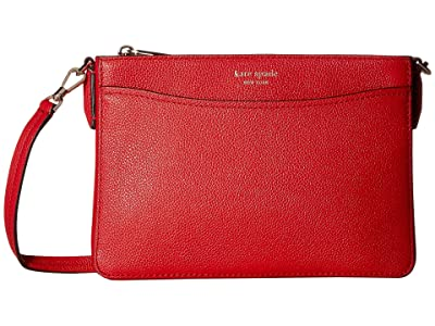 Kate Spade New York Margaux Medium Convertible Crossbody (Hot Chili) Handbags