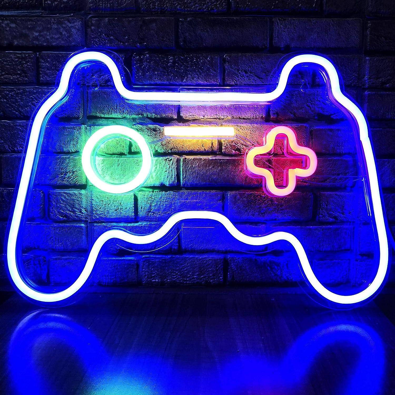 LED Game Neon Sign 5 popular Gamepad Shape for T Light Gift Max 60% OFF Gamer