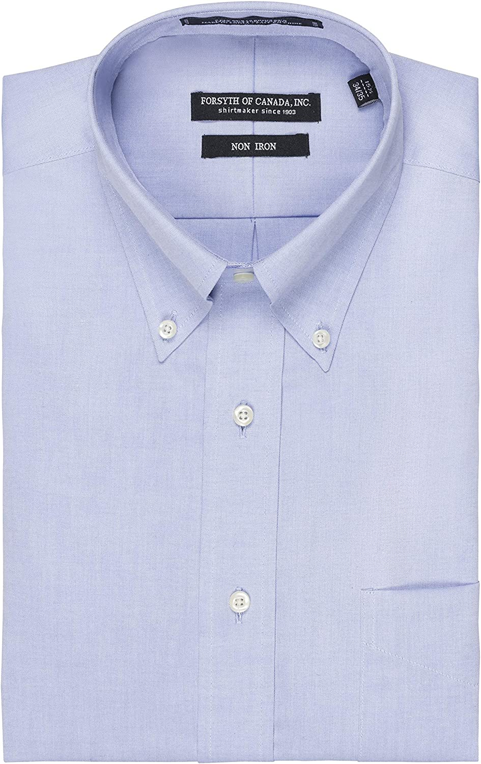 Forsyth of Canada Traditional Fit Non-Iron Long Sleeve Dress Shirt (Light Blue, 22