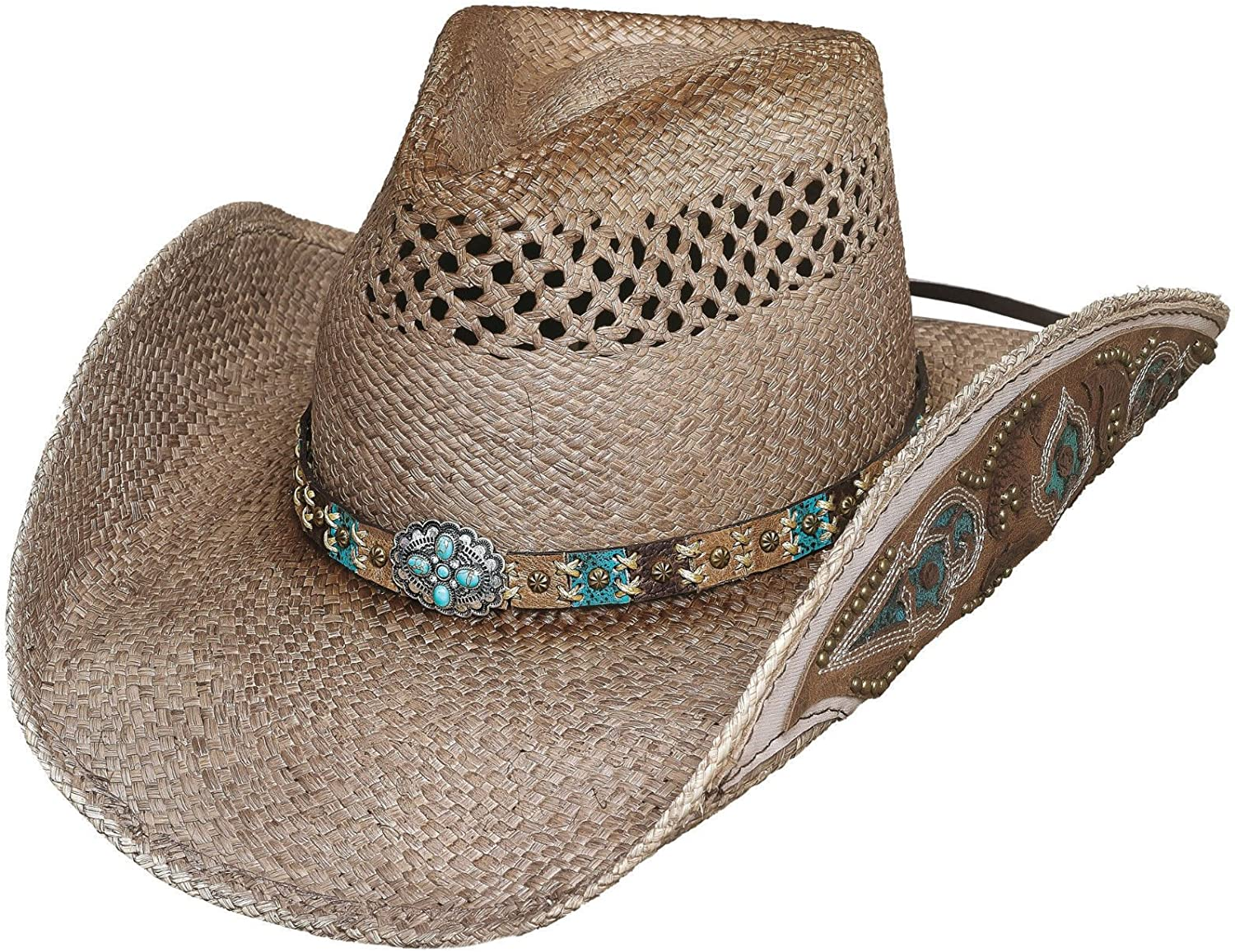 Bullhide Wild and bluee Straw Hat