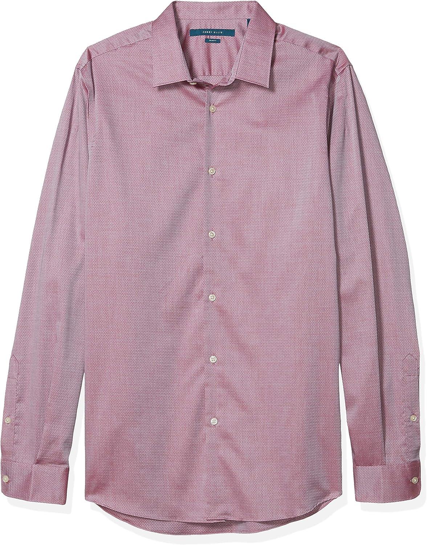 Perry Ellis Men's Big & Tall Solid Dobby Resist Spill Shirt