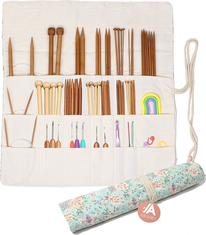 Knitting Needles Award-winning store Holder Reservation Case Rolling for Crochet Hooks Organizer
