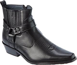 Western Style Boots New Upgrade PU-Leather Cowboy