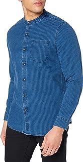 Superdry Henley Worker Shirt Camisa con Botones para Hombre
