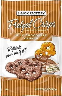 Snack Factory Pretzel Crisps, Milk Chocolate Crunch Covered Pretzels, 5.5 Ounce