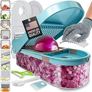 برش خردکن سبزیجات - پیاز پیاز سبزیجات - برش غذا برای سرخ کردنی ، سیب زمینی ، گوجه فرنگی ، سالاد - 9 عدد