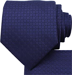 KissTies Ties for Men Solid Color Necktie Checkered Pattern + Gift Box