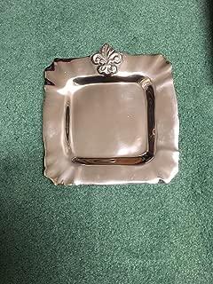 fleur de lis tray engraved wedding tray serving tray wedding invitation on tray silver tray perfect wedding gift