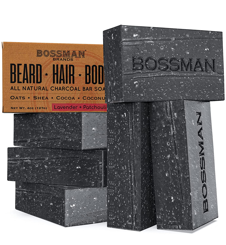 6 Pack Popular products Bossman Men's Bar Soap – High material Organic 4-in-1 Natural