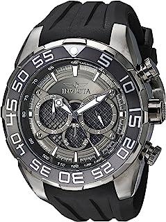 Invicta de los hombres 'Speedway' cuarzo, de acero inoxidable y silicona reloj Casual, color: negro (modelo: 26308)