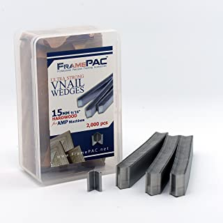 V Nails for Picture Framing - Ultra Strong - 15mm (5/8 Inch) Vnail Wedges for Joining Picture Frame Corners - Hardwood Frames - AMP [2000 V Nail Pack, Stacked]