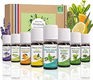 Coffret 8 x 10 ml Huiles Essentielles BIO distillées en FRANCE + Guide d'Aromathérapie PDF | HEBBD, HECT | Kit pour Cuisin...